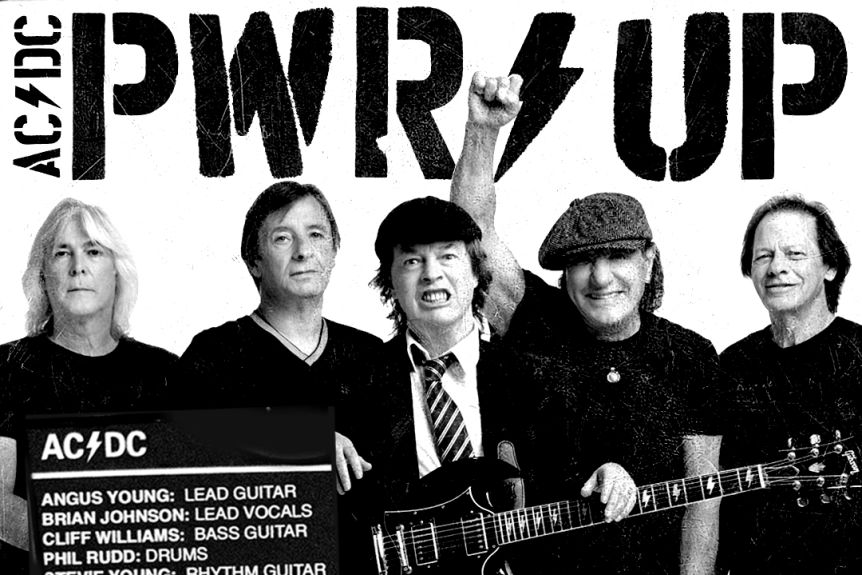 AC/DC tease comeback with PWR UP posters